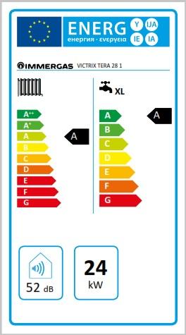 Centrala termica pe gaz in condensatie IMMERGAS VICTRIX TERA24/28 1 ErP+ kit evacuare inclus.. Poza 2978