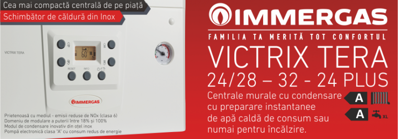 Centrala termica pe gaz in condensatie IMMERGAS VICTRIX TERA24/28 1 ErP+ kit evacuare inclus.. Poza 3125