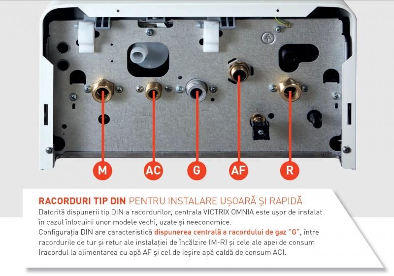 Centrala termica pe gaz in condensatie IMMERGAS VICTRIX OMNIA 25 + kit evacuare inclus.. Poza 3747