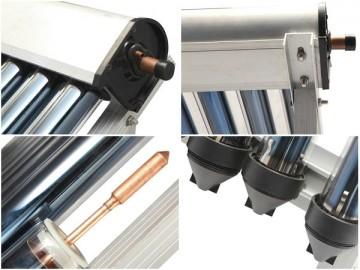 poza Pachet solar 15 tuburi sistem complect cu tuburi solare vidate boiler cu 1 sepentina