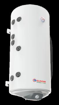 poza Boiler din otel termoelectric cu 2 serpentine vertical ELDOM 120 L