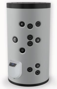 poza Boiler din otel termoelectric cu 2 serpentine vertical ELDOM 200 L