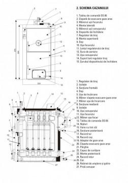 Poza Centrala termica pe lemne si carbune din fonta VIADRUS U22-D6 30KW. Poza 3462
