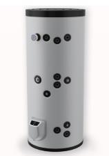 poza Boiler din otel termoelectric cu 2 serpentine vertical ELDOM 300 L
