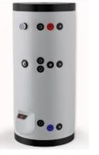 poza Boiler din otel termoelectric cu 2 serpentine vertical ELDOM 500  L