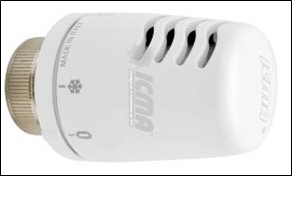 poza Set  - ROBINET termostatabil ICMA   + CAP termostatabil ICMA  + ROBINET retur ICMA