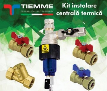 poza Kit pentru instalare centrala termica TIEMME cu filtru magnetic T-MAG
