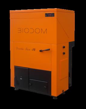 poza Cazan pe peleti Biodom Double Fan 34 cu pompa bypass 30 kw
